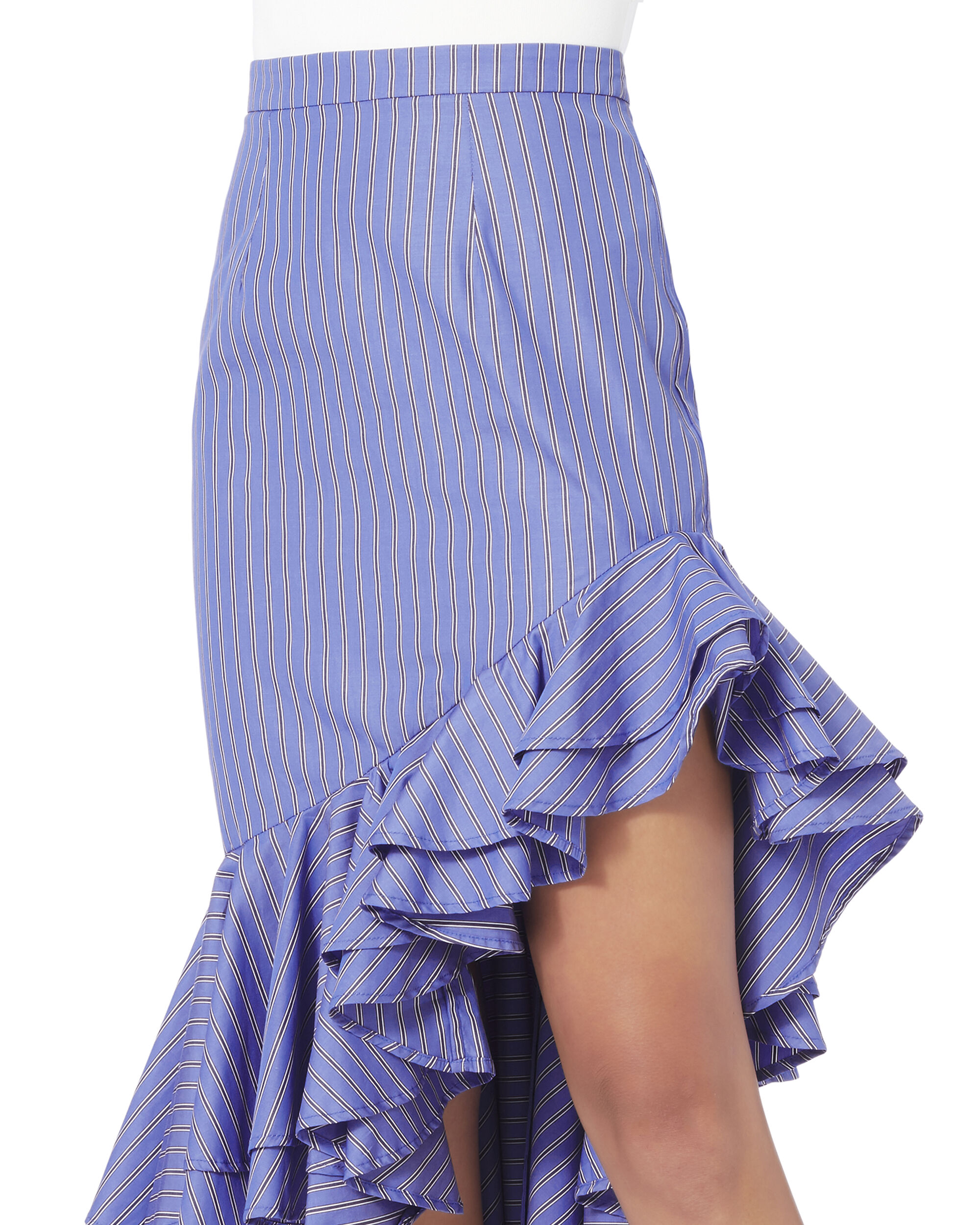 I Just Want To Be Free Ruffle Skirt, STRIPE, hi-res