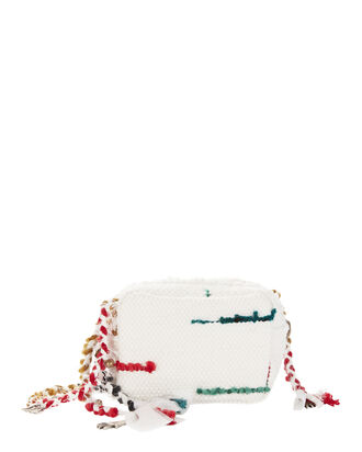 Lachesis Woven Crossbody Bag, WHITE, hi-res