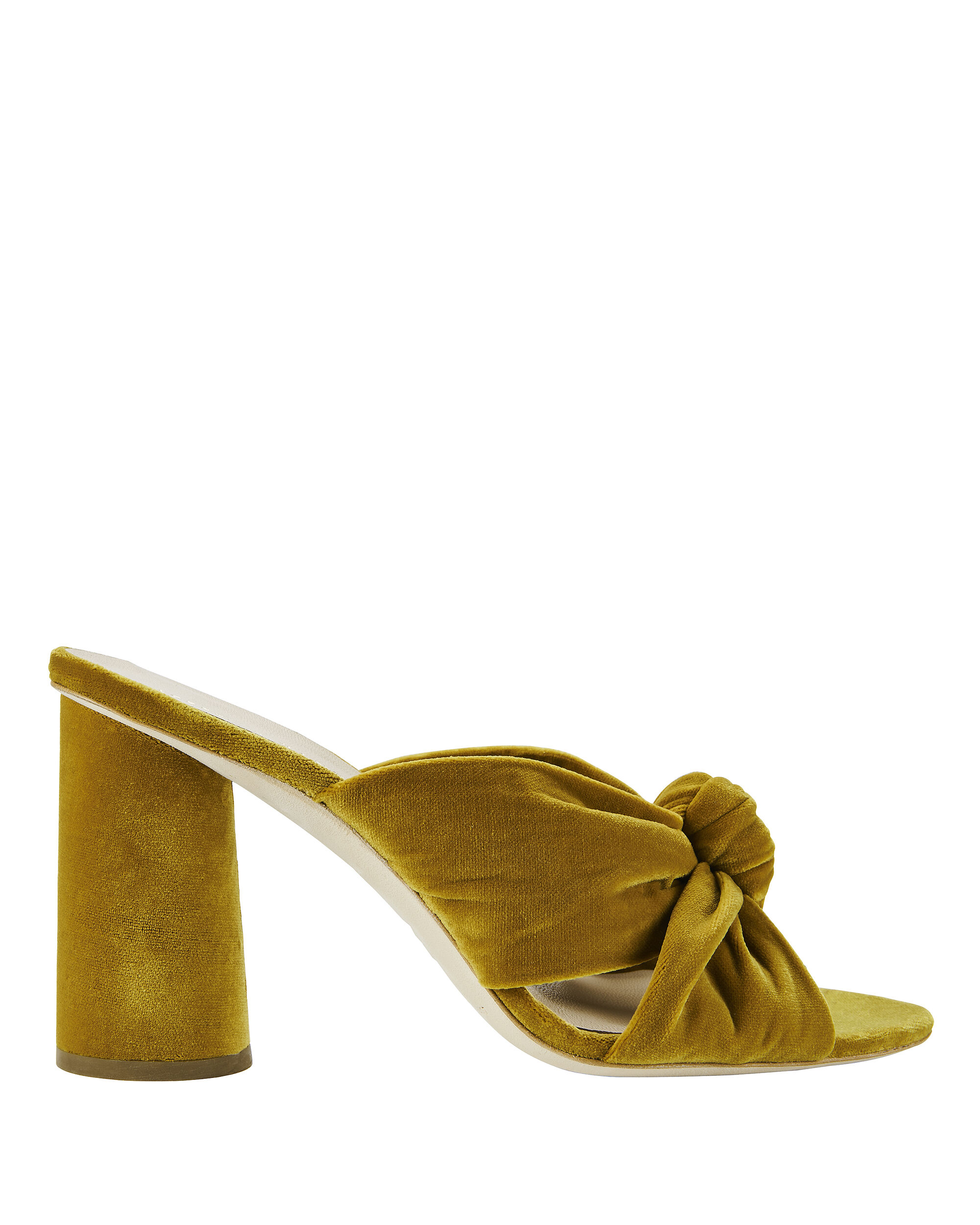 Coco Velvet Marigold Sandals, YELLOW, hi-res