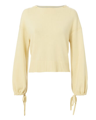 Scruch Crop Hooded Sweater, YELLOW, hi-res