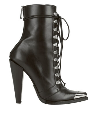 Calamity Lace-Up Booties, BLACK, hi-res