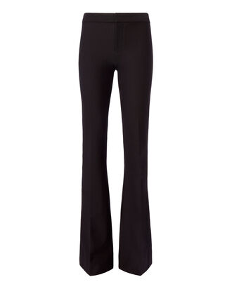 Tuxedo Striped Black Flare Trousers, BLACK, hi-res