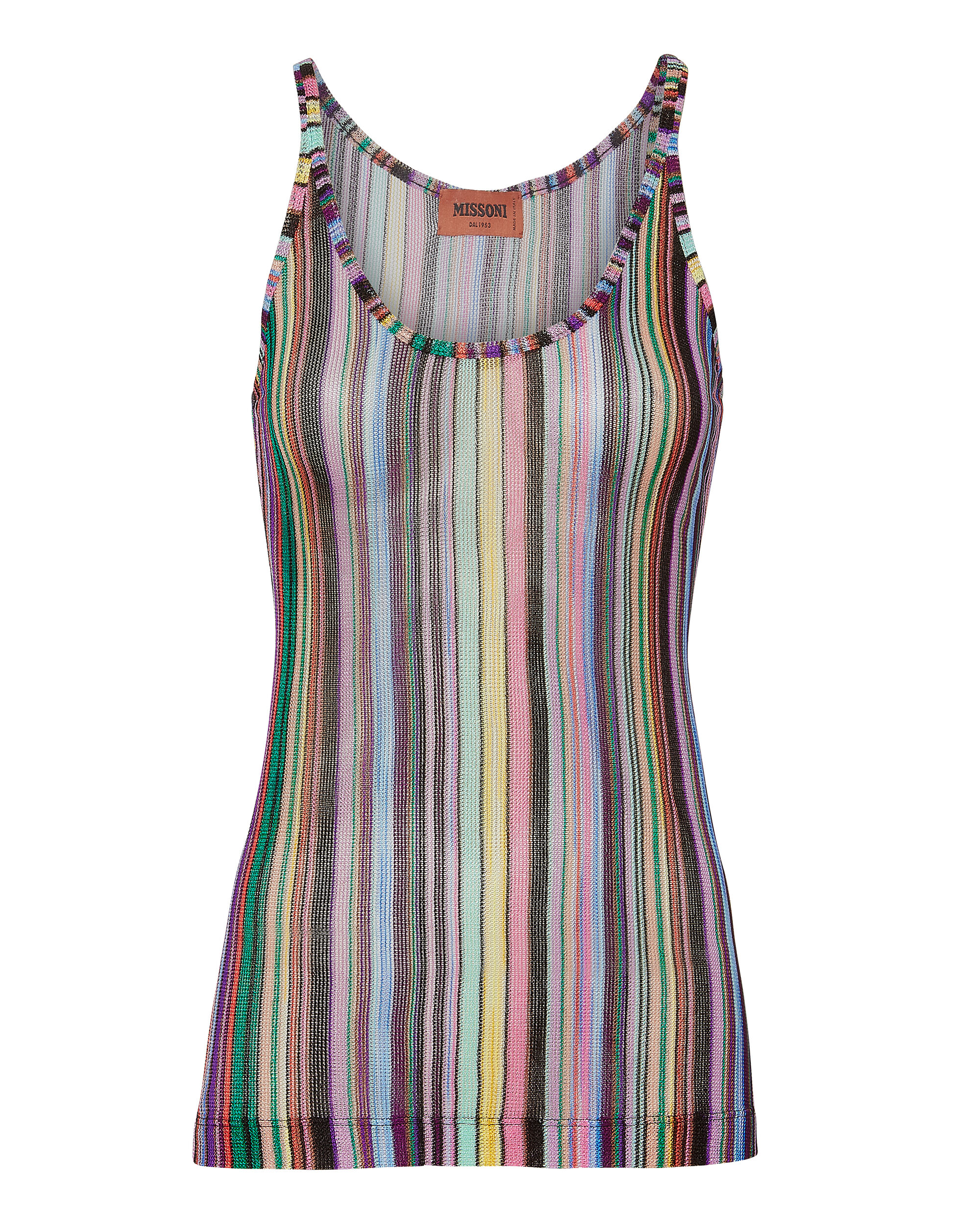 Rainbow Striped Tank, MULTI, hi-res