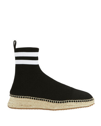 Dylan Sock Knit Espadrille Sneakerboots, BLACK, hi-res
