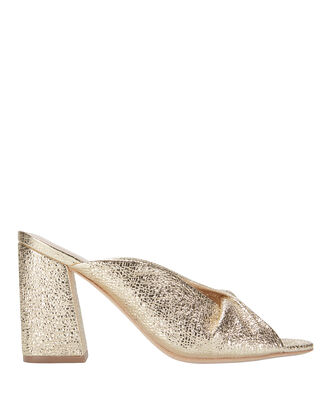Laurel Crinkle Metallic Gold Sandals, METALLIC, hi-res