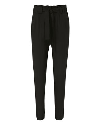 Ansel Tie Waist Pants, BLACK, hi-res
