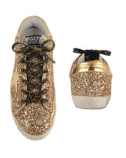 Superstar Leopard Lace Gold Glitter Sneakers, GOLD, hi-res
