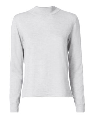 Drape Back Grey Sweater, GREY, hi-res
