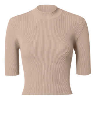 Light Pink Rib Knit Crop Top, BLUSH, hi-res