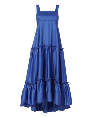 Cobalt Tiered Tank Dress, BLUE, hi-res