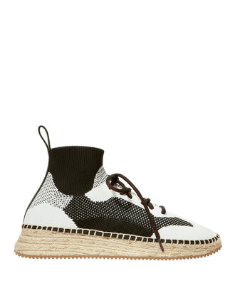 Dakota Espadrille Sock Sneakers, BLK/WHT, hi-res