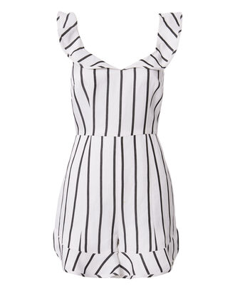 Rachel Striped Flutter Romper, STRIPE, hi-res