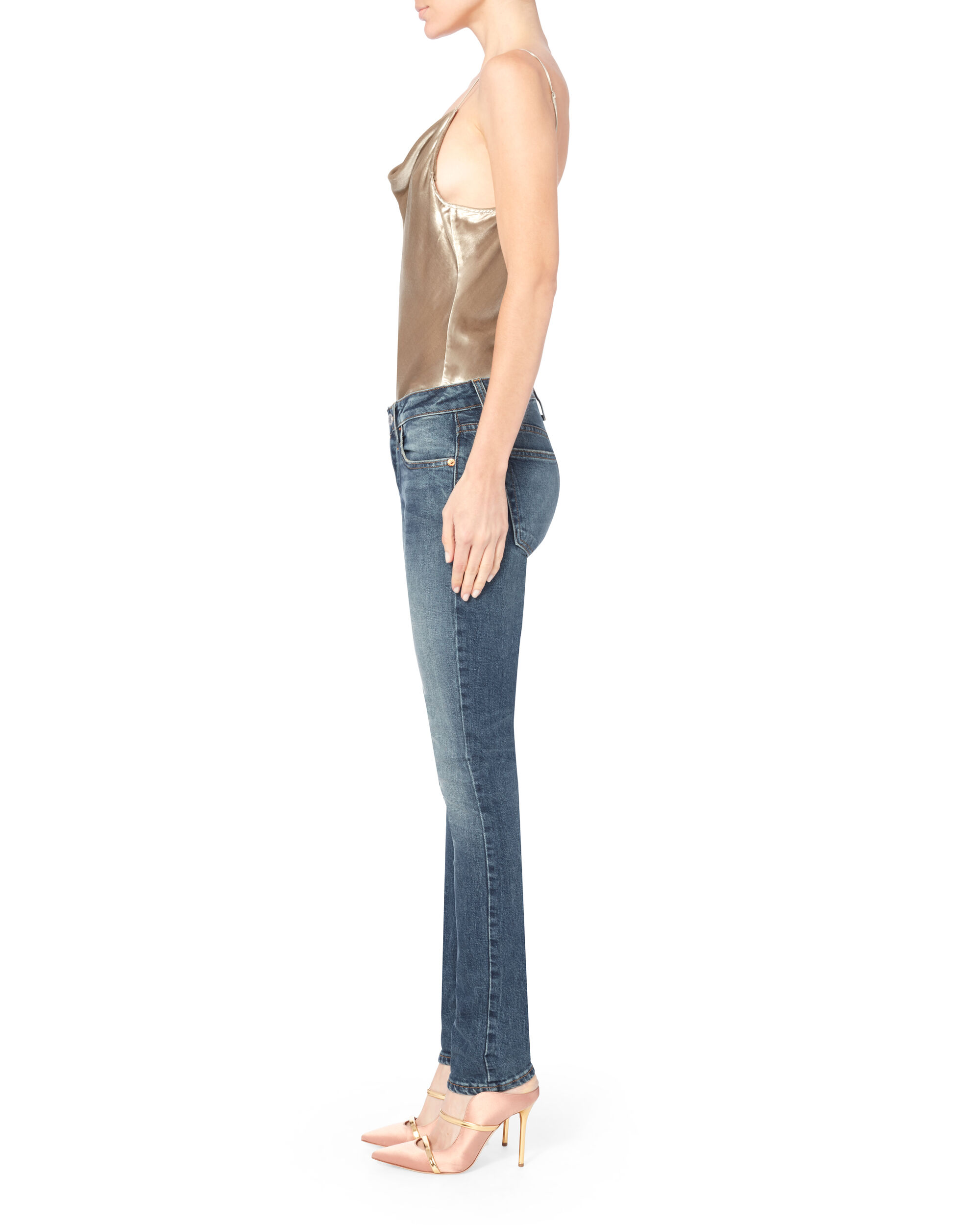 Ultra Low-Rise Stack Jeans, DENIM, hi-res