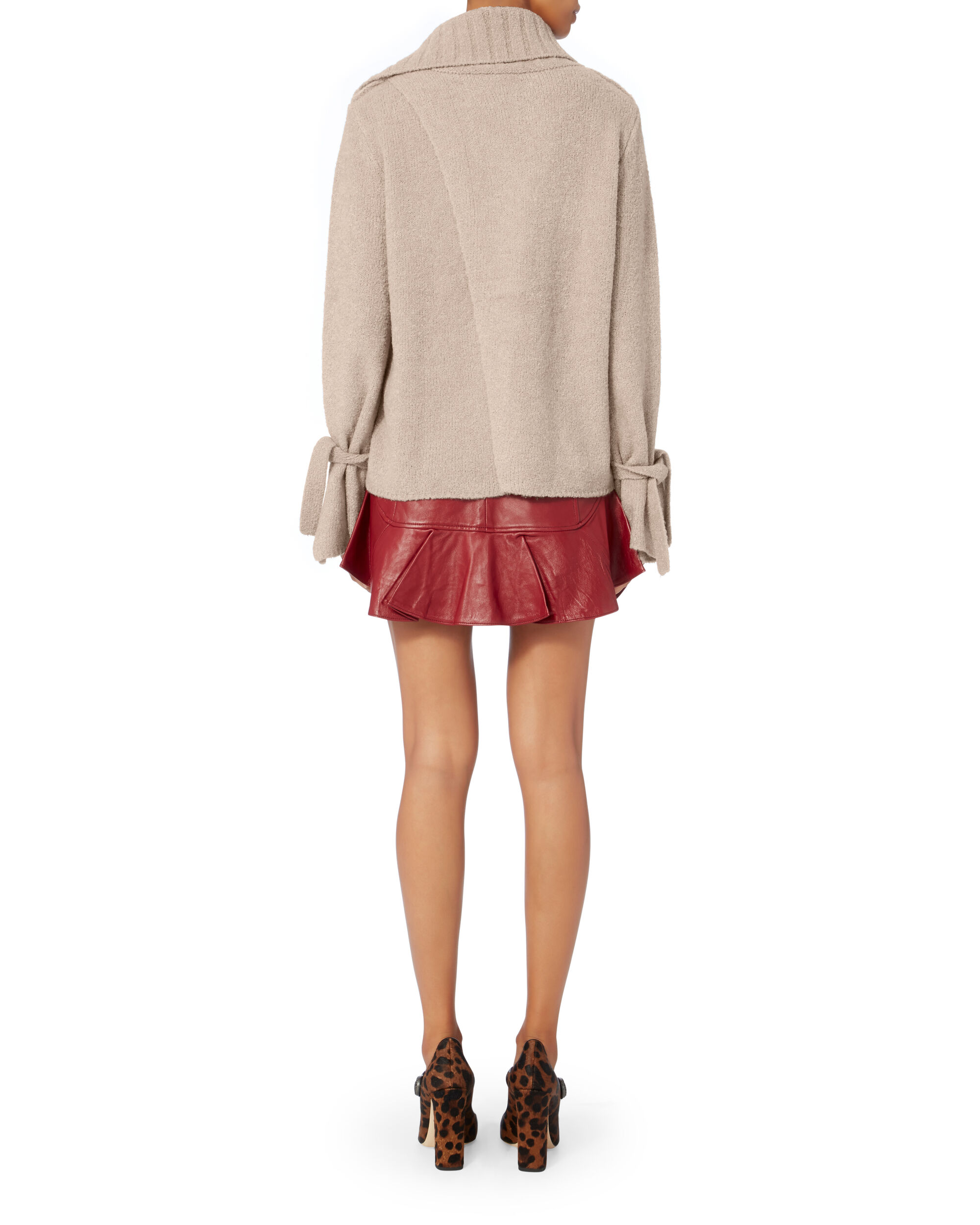 Agna Tie Sleeve Pullover, PINK, hi-res