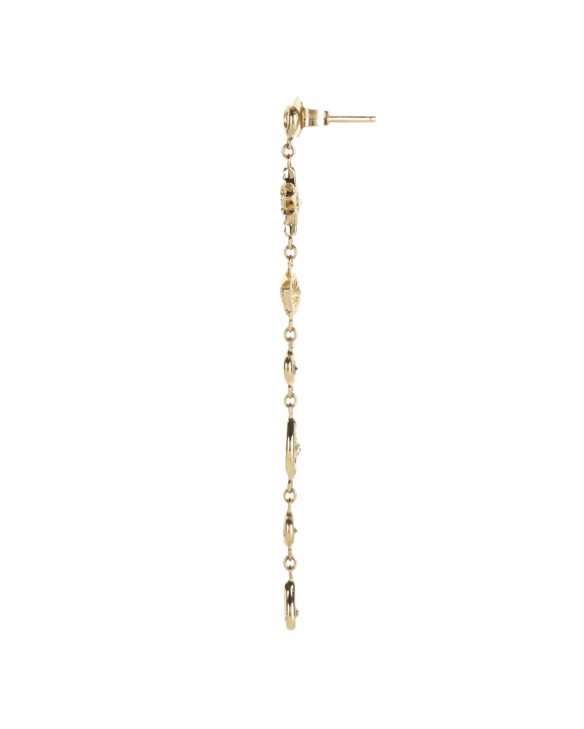 Pavé Five Diamond Drop Earring, , hi-res