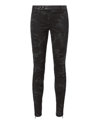 Camo Lace-Up Skinny Pants, PRINT, hi-res