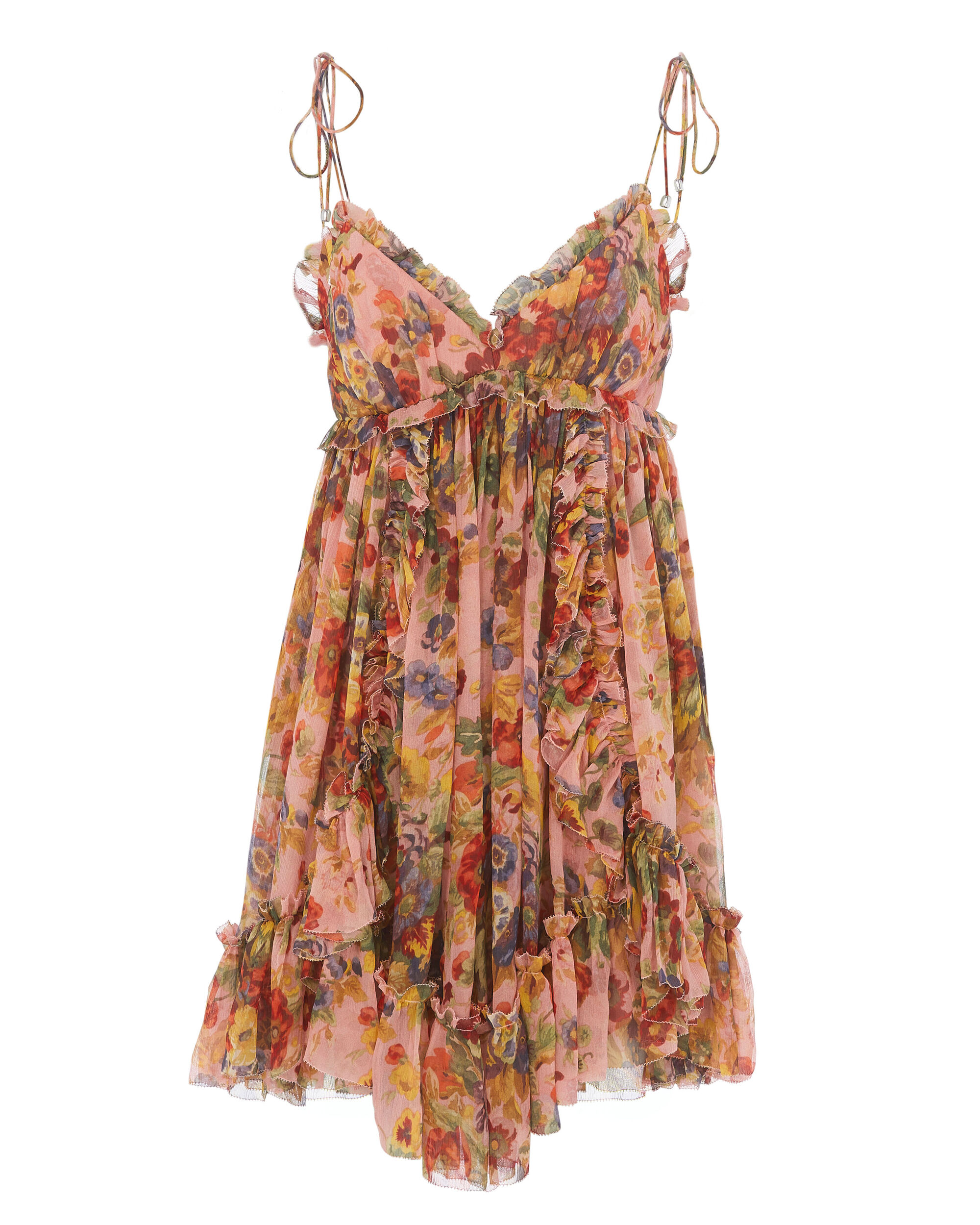 Lovelorn Frill Mini Dress, PRINT, hi-res