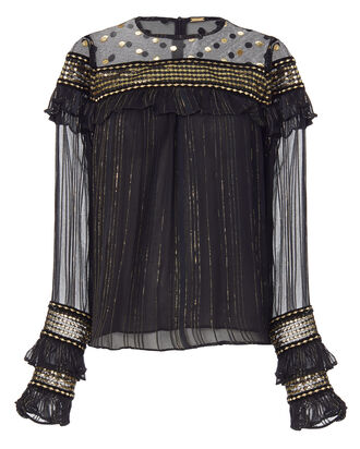 Silviya Blouse, METALLIC, hi-res