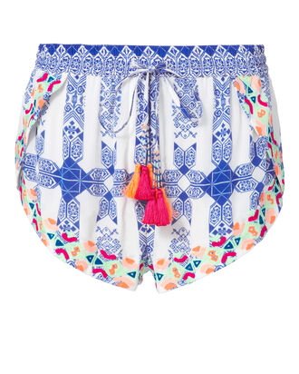 Tassel Printed Shorts, PRI-ABSTRACT, hi-res