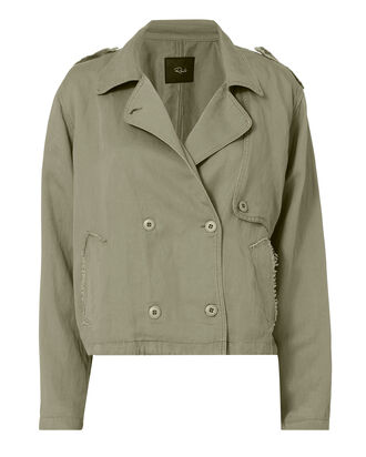 Barclay Cropped Jacket, OLIVE/ARMY, hi-res