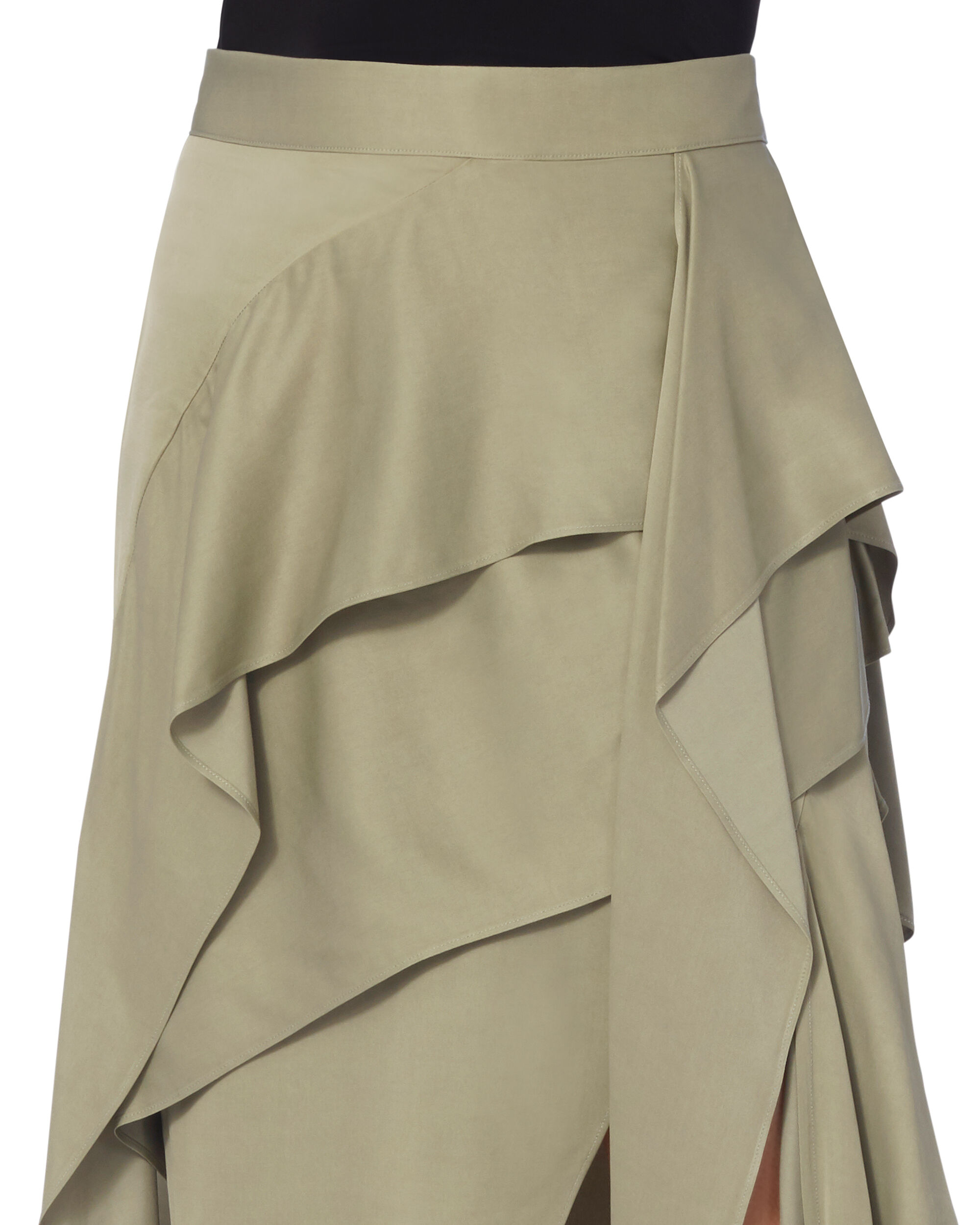 Detachment Wrap Skirt, BEIGE, hi-res