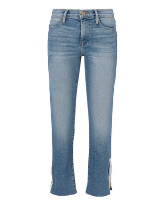 Le High Straight Zip Jeans, DENIM, hi-res