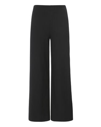 Patch Pocket Cropped Wool Pants, NAVY, hi-res