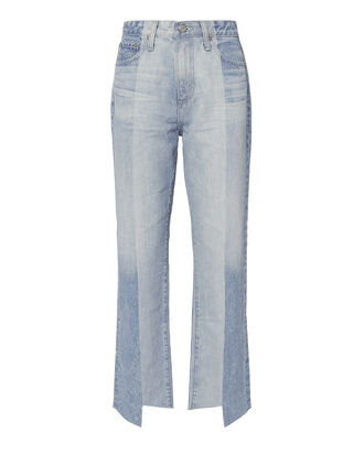 Phoebe Two-Tone Step Hem Jeans, DENIM, hi-res