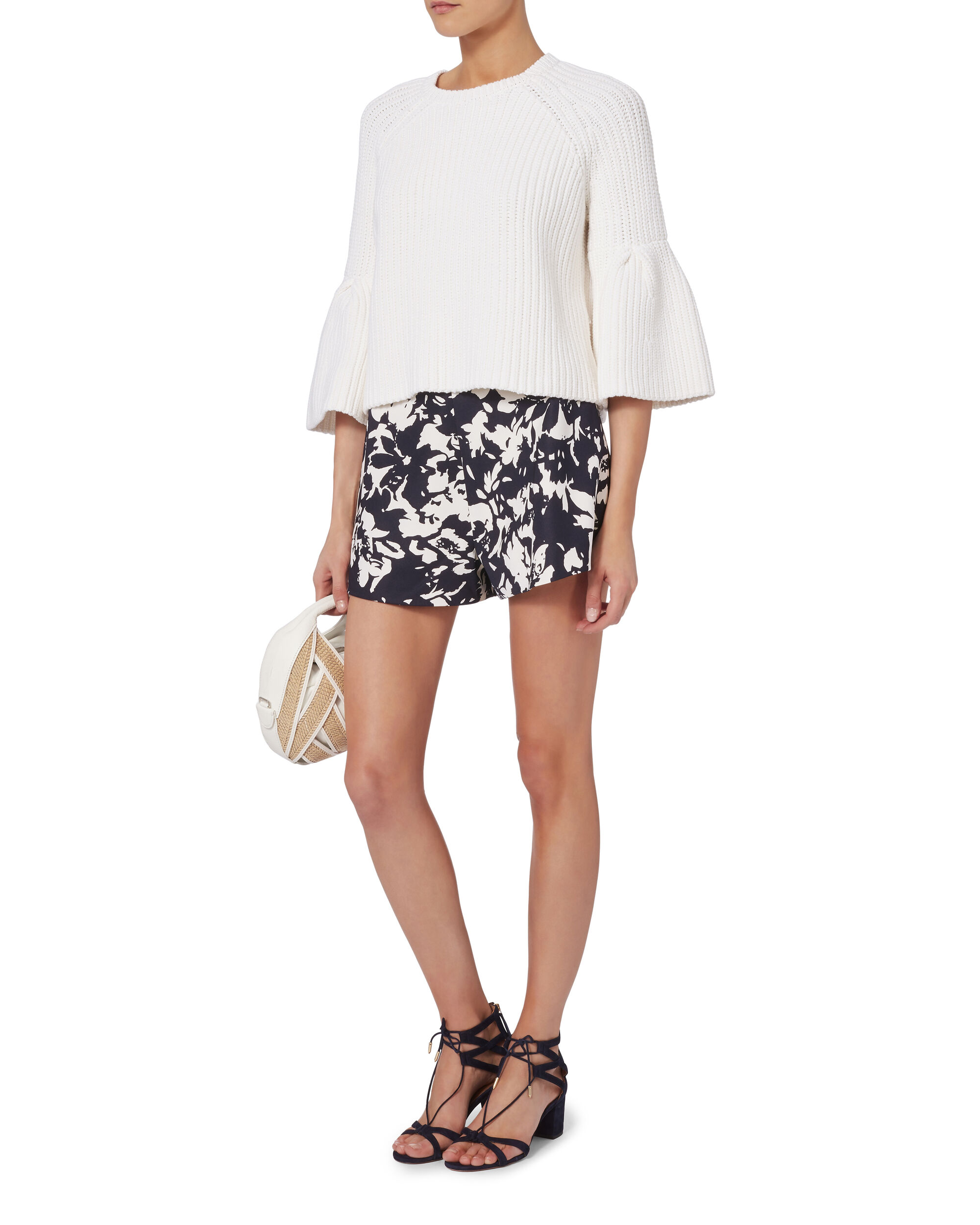 Carrie Floral Shorts, PRINT, hi-res
