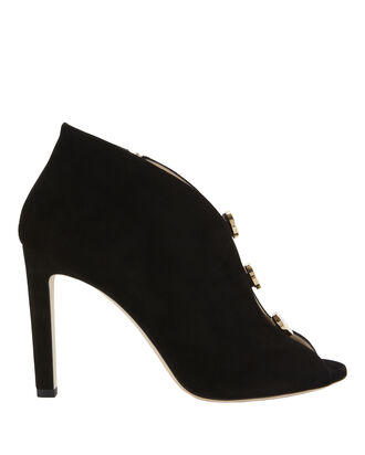 Lorna Suede Booties, BLACK, hi-res