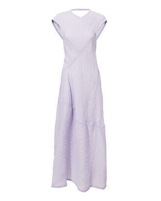 Lilac Open Back Midi Dress, PURPLE-LT, hi-res
