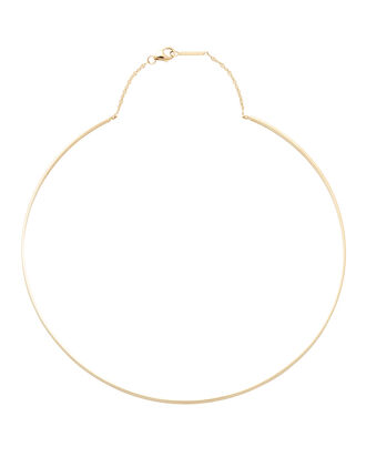 Thin Gloss Collar Necklace, , hi-res