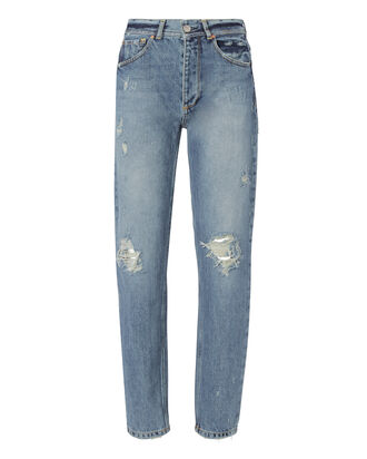 Olivia Distressed Jeans, DENIM, hi-res