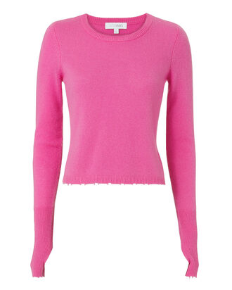 Valencia Cropped Knit Top, PINK, hi-res