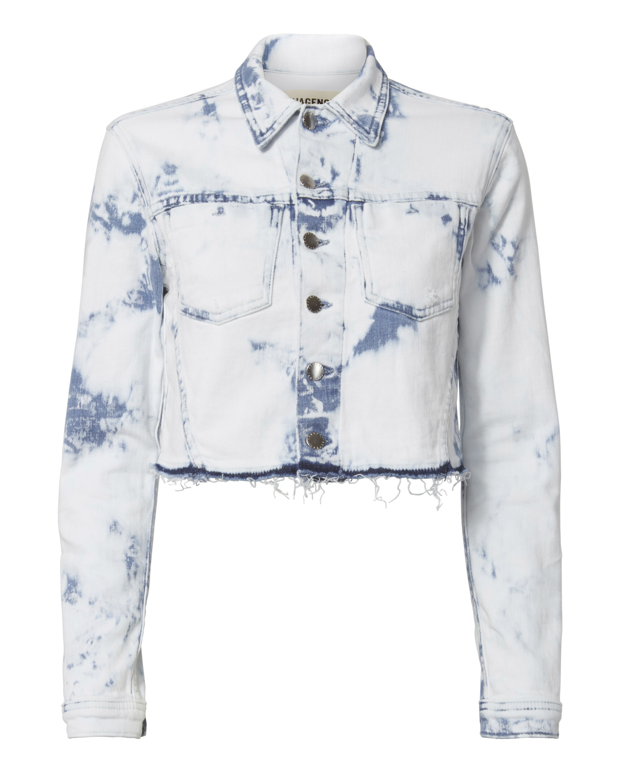 Zuma Bleached Cropped Jacket, DENIM, hi-res