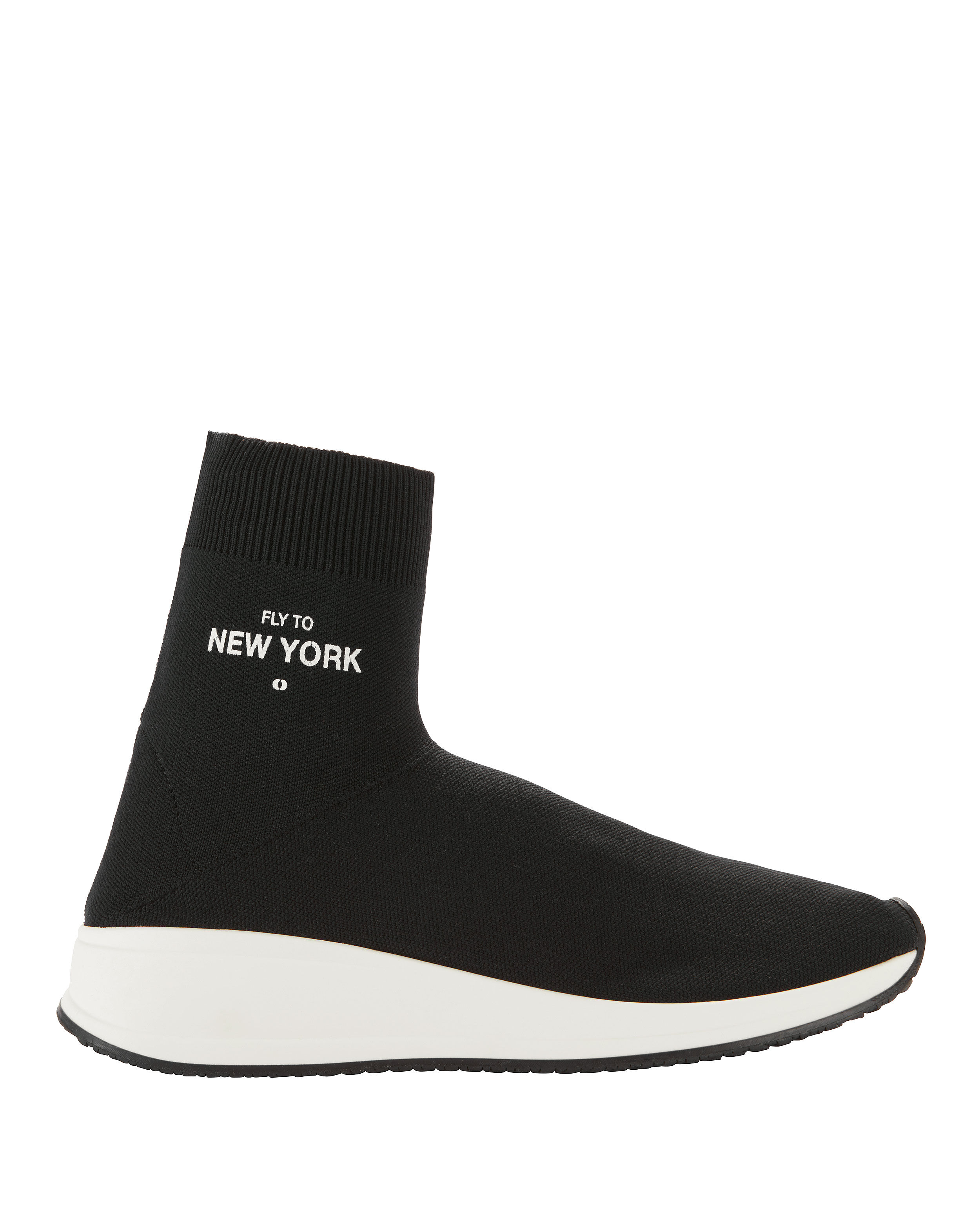Valentino Black 'Fly Me To New York' Sock Sneakers
