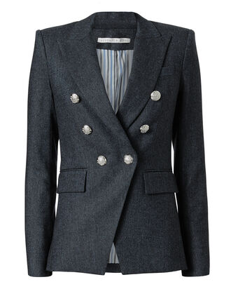 Miller Herringbone Jacket, BLUE, hi-res