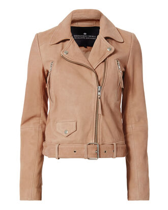 Aida Soft Biker Jacket, METALLIC, hi-res