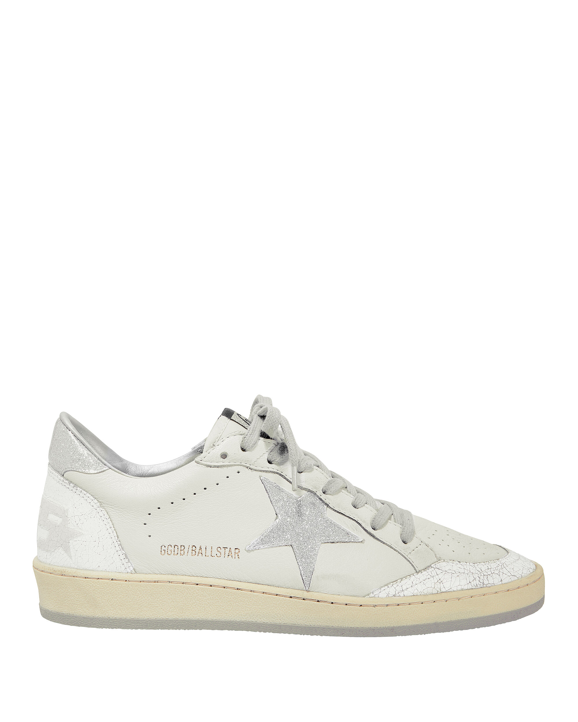 BALL STAR SILVER STAR LOW-TOP SNEAKERS WHITE