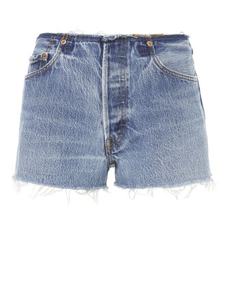 No Waistband Shorts, DENIM, hi-res