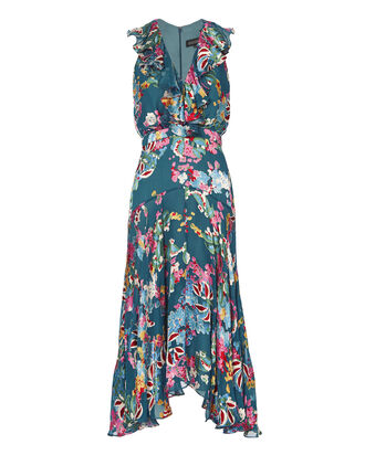 Rita Floral-Printed Midi Dress, BLUE, hi-res