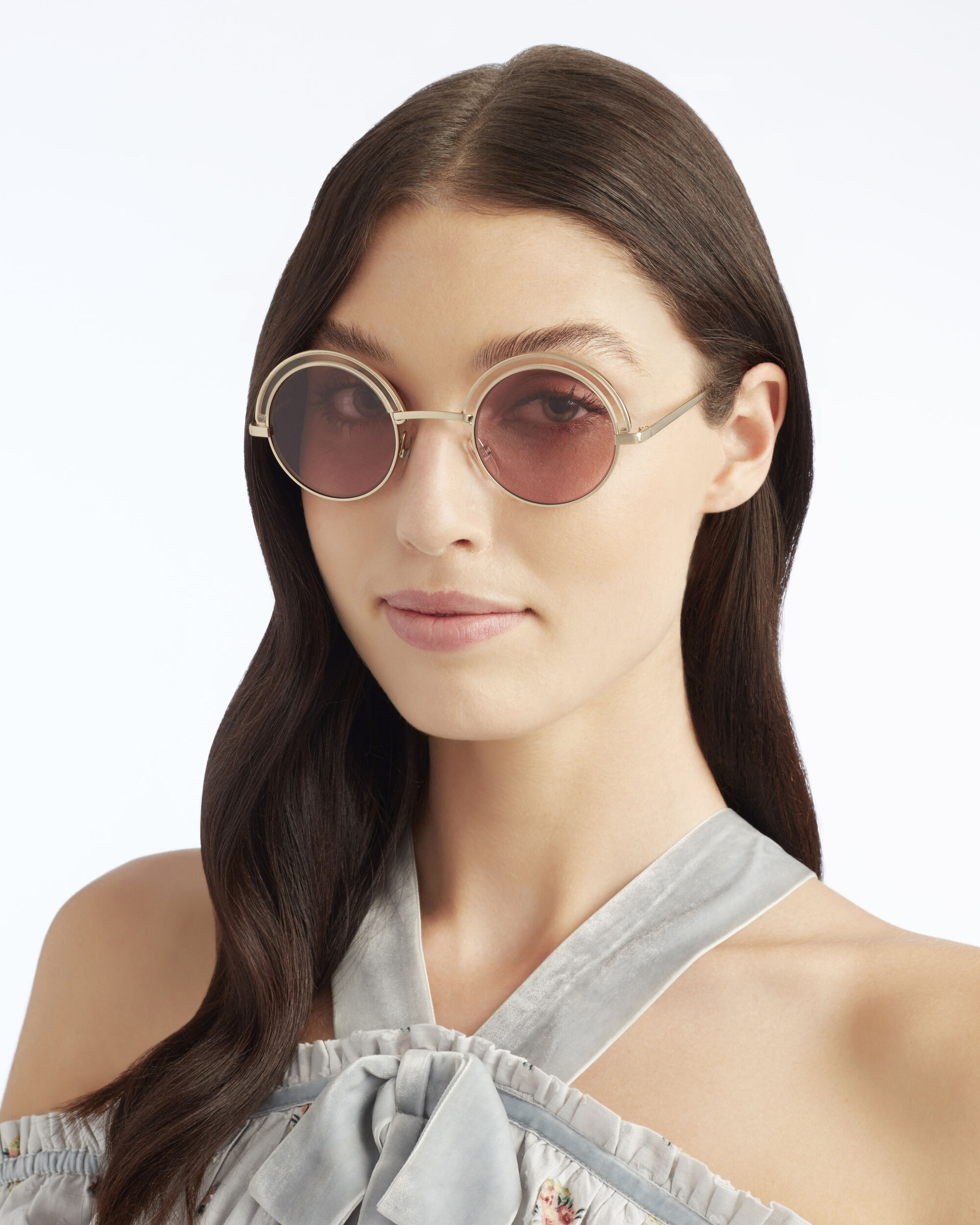 Oliver Peoples for Alain Mikli Pink Wash Round Sunglasses, METALLIC, hi-res