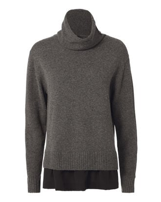 Silk Trim Cashwool Sweater, , hi-res