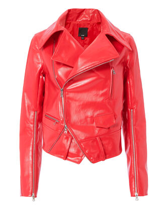 Rider Red Patent Jacket, RED-DRK, hi-res