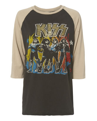 Kiss Baseball Tee, BLACK, hi-res