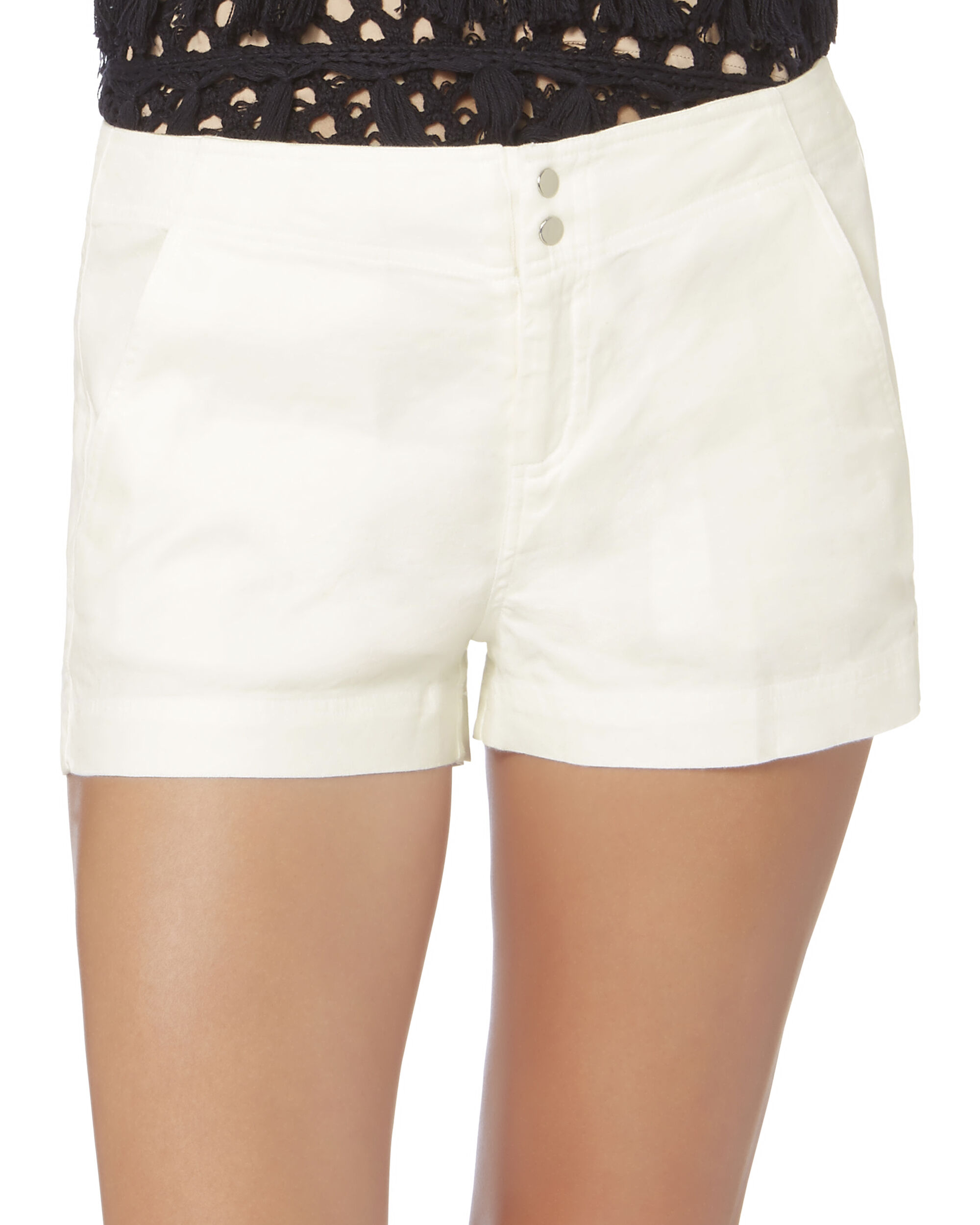 Essex Tailored Ivory Shorts, IVORY, hi-res