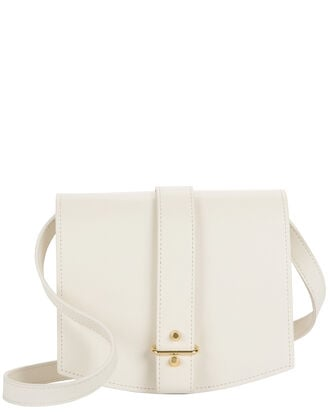 Jo Saddle White Crossbody, , hi-res