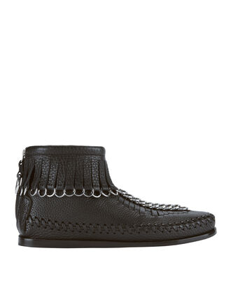 Black Montana Moccasin Booties, BLACK, hi-res