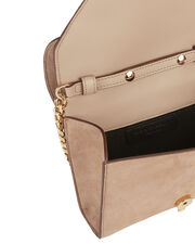Felina Rose Chain Suede Shoulder Bag, BLUSH/NUDE, hi-res
