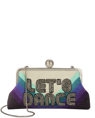 Let's Dance Blue Clutch, BLUE, hi-res